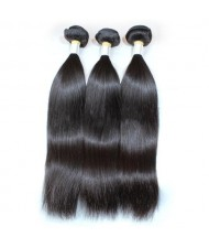 3 Bundles 8A Grade 100% Human Hair Straight Natural Color Brazilian Virgin Hair Weaves/ Wefts