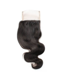 3 Pieces 7A Grade 100% Human Hair Body Wave Natural Color Brazilian Virgin Hair Lace Closure