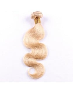 3 Bundles 100% Human Hair Blonde Color 613 Body Wave Ombre Brazilian Virgin Hair Weaves/ Wefts