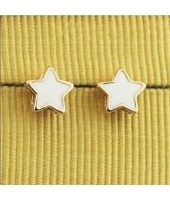 White Stars 18k Rose Gold Ear Studs