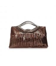 (5 Colors Available) Lips Handle Design Glistening Sequins Evening Handbag