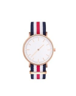 Three Colors Available Canvas Band High Fashion Unisex Wrist Watch