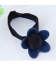 Korean Fashion Sweet Flower Hair Band - Blue