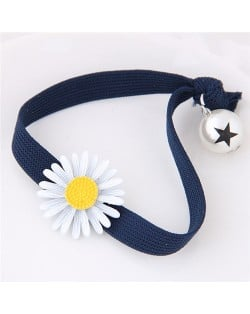 Korean Fashion Daisy and Pearl Decorated Women Hair Band - Royal Blue