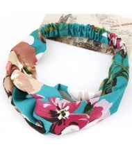 Flowers Prints High Fashion Casual Style Hair Band - Green