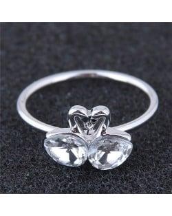 Dual Swans Sweet Love Fashion Ring