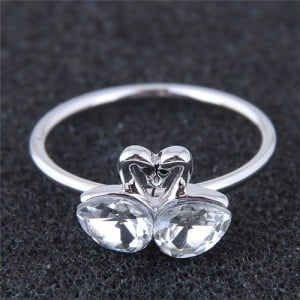 Dual Swans Sweet Love Fashion Ring