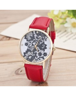 11 Colors Available Black Lace White Background Index Fashion Wrist Watch