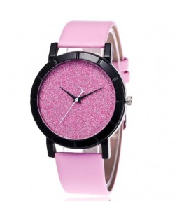 5 Colors Available Starry Sky Index Design High Fashion Unisex Wrist Watch