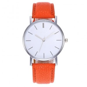 11 Colors Available Simple Plain Fashion Index Design Unisex Wrist Watch