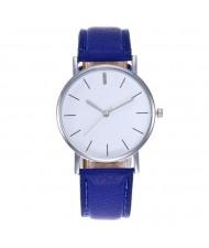 12 Colors Available Simple Plain Fashion Index Design Unisex Wrist Watch