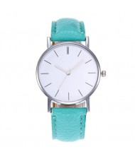 12 Colors Available Simple Plain Fashion Index Design Unisex Wrist Watch