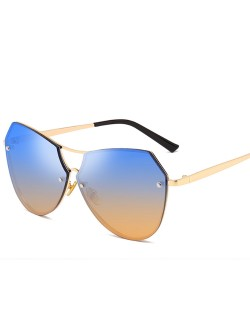 6 Colors Available Irregular Shape Frame Unisex High Fashion Sunglasses