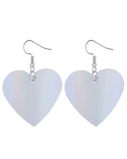 Glistening Alloy Heart Design High Fashion Earrings