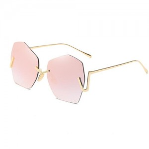 5 Colors Available Unique Hollow-out Design Octagon Frame Unisex Fashion Sunglasses