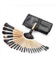 24 pcs Classic Fashion Makeup Brushes Set