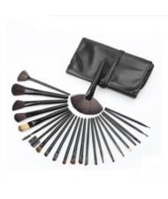 24 pcs Mini Fashion Cosmetic Makeup Brushes Set - Black