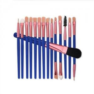 15 pcs Blue Fashion Cosmetic Makeup Brushes