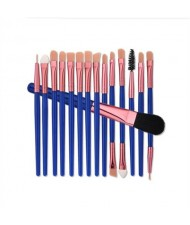 15 pcs Blue Fashion Cosmetic Makeup Brushes