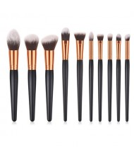 10 pcs Design Black Gray Fashion Makeup Brushes Set