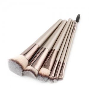 6 pcs Gray Brush Head Champagne High Fashion Makeup Brushes Set