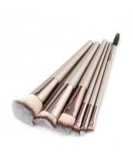 6 pcs Gray Brush Head Champagne High Fashion Makeup Brushes Set