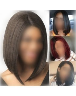 5 Solid Colors Available Middle Side Part Bob Style High Fashion Women Synthetic Wig