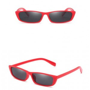 5 Colors Available Vintage Plain Square Frame Fashion Sunglasses