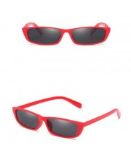 5 Colors Available Vintage Plain Square Frame Fashion Sunglasses