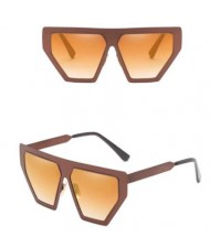 6 Colors Available Thick Pentagonal Frame Bold Fashion Sunglasses