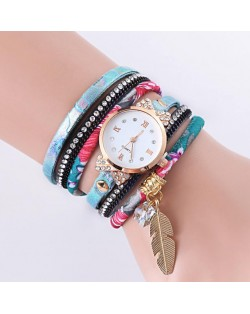 6 Colors Available Multi-layer Twirling Style Costume Wrist Watch
