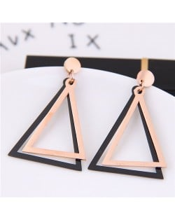 Triangles High Fashion Stainless Steel Stud Earrings