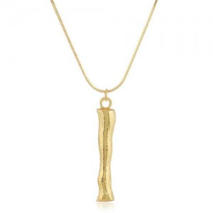 Punk High Fashion Alphabets Golden Alloy Costume Necklace - I