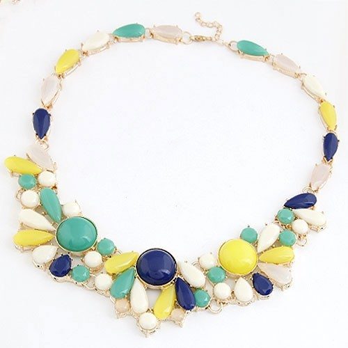 Summer Fashion Assorted Candy Color Combo Necklace