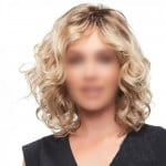 Golden Color Curly Fashion Middle Side Part Short Women Synthetic Wig