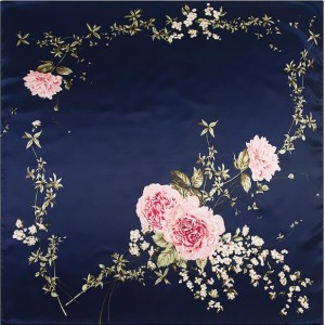 4 Colors Available Flowers Heart Image Romantic Fashion Square Scarf