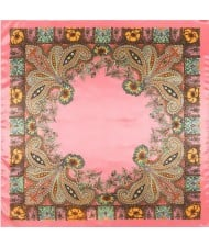 7 Colors Available Classical Giant Flowers Image Fashion Square Scarf