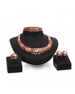 Propitious Cloud Hollow Design 4pcs Fashion Jewelry Set