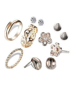 Multiple Fashion Elements Combo 7pcs Women Costume Jewelry Set