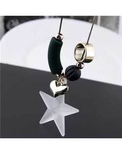 Pentagram and Assorted Elements Pendants Long Chain High Fashion Necklace