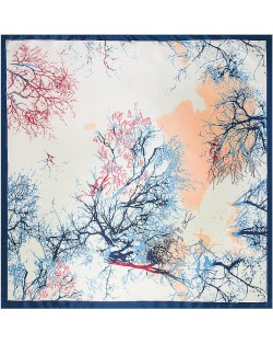 3 Colors Available Dry Twigs and Branches Winter Fashion 90*90 cm Square Scarf