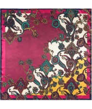 5 Colors Available Bohemian Fashion Flowers 90*90 cm Square Scarf