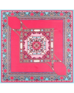 4 Colors Available Bohemian Squares Pattern Vintage Fashion 100*100 cm Square Scarf