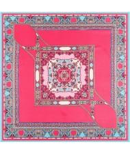 4 Colors Available Bohemian Squares Pattern Vintage Fashion 100*100 cm Square Scarf