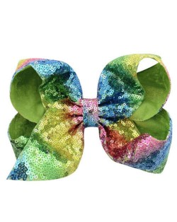 Sequins Bowknot Shining Design Cute Baby Hair Clip - Green