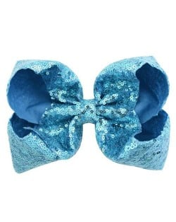 Sequins Bowknot Shining Design Cute Baby Hair Clip - Blue