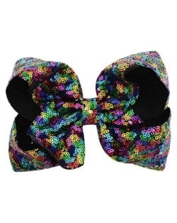 Sequins Bowknot Shining Design Cute Baby Hair Clip - Multicolor