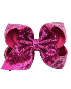 Sequins Bowknot Shining Design Cute Baby Hair Clip - Pink