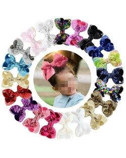 (20 pcs) Sequins Bling Fashion Baby Hair Clip Set