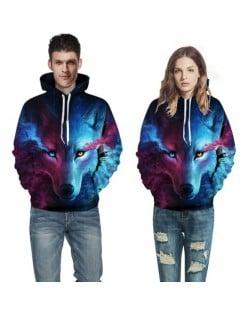 Blue Wolf Printing High Fashion Hoodie